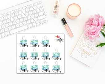 Vacation Time  | Erin Condren, Personal Size  Planner Stickers
