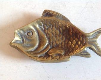 Peerage England Brass Fish Trinket / Ashtray dish