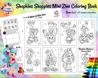Shopkins Shoppies Mini Coloring Page