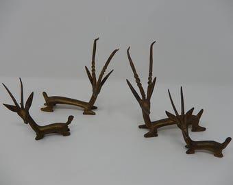 Tribal Art, Antelopes in Bronze