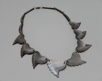 Old Mother of Pearl Necklace, free shipping!