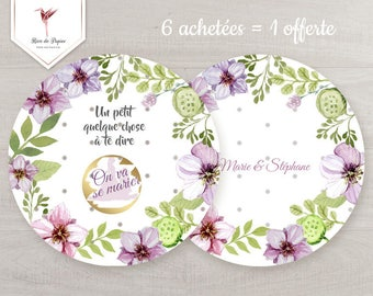 Scratch off card to reveal your wedding, floral theme - customizable