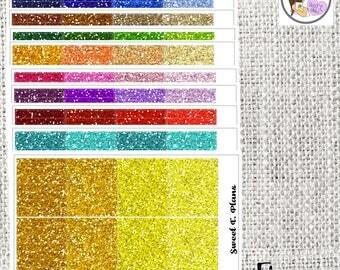 Fine Glitter Headers Stickers Planner The Erin Condren The Happy Planner