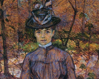 Madame Suzanne Valadon by Henri Toulouse Lautrec - Poster A3 or A4 Matt, Glossy or Art Canvas Paper