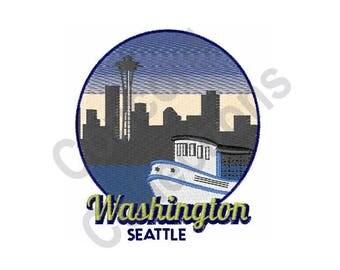 Washington Seattle - Machine Embroidery Design