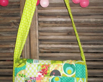 cross body bag for kids while patchwork