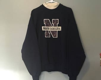 Navy North Carolina Crewneck