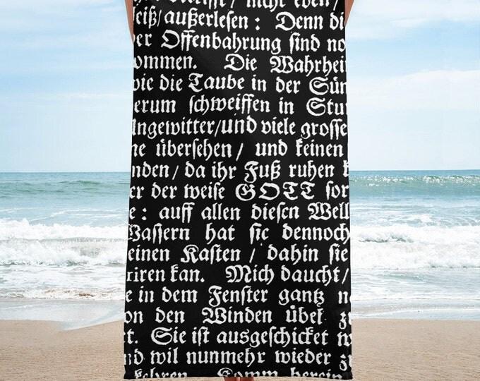 Deutsch Towel