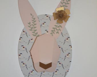 Gift this Easter decoration room boy trophy rabbit bird background
