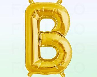 Metallic Gold Letter B Balloon | Gold B Balloon | Gold Letter B Balloon | Jumbo Letter B Balloon