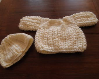 bra and matching bonnet size 1 month
