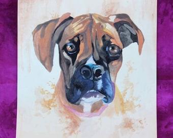 Custom Pet Portraits, Custom-made Pet portrait, Custom Pet Painting, watercolor pet painting, mixed media pet portraits
