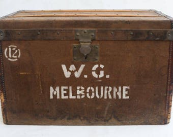 Antique Moynat steamer trunk circa 1900