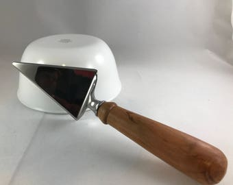 Wood Turned Handle Pizza/Pie/Cake Server/Turned handle/Wood Turned Handle/Wood Handle Server/Wedding Gift