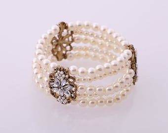 Vintage Style beads wrap bracelet