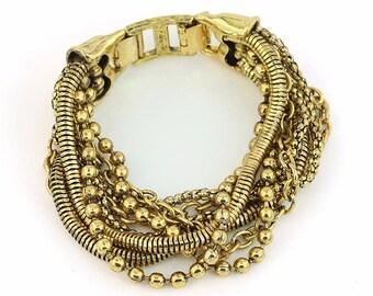 Vintage multi strand boho bracelet