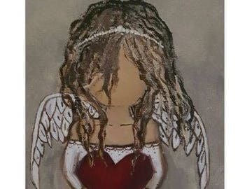 Angel Stationary - Note Cards - Print - 5x7