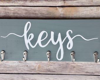 Key Holder for wall/key racks for wall/farmhouse key holder/ wall key hanger/entryway organizer/ key ring holder for wall