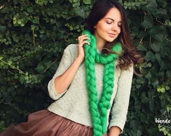 Chunky wool scarf / Merino Wool Scarf /chunky merino scarf /Chunky Wool Scarf / Arm Knitting / Super chunky Scarf / Gift fir her / Big Scarf
