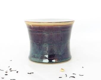 Beurrier à eau cintré, marron bleuté