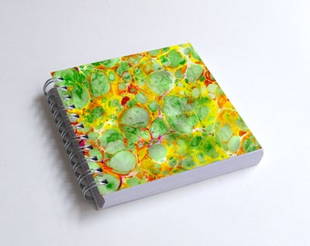 "Notebook 4x4"" decorated with motifs of marbled papers - 10"
