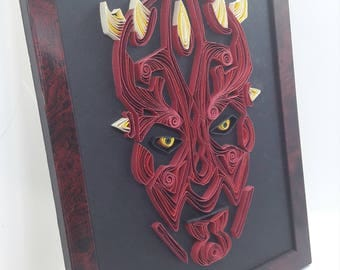 Star Wars Quilling - Dark Maul