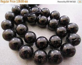 ON SALE 15% OFF Black Tourmaline Round 12mm Beads 34pcs
