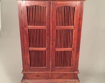 Antique Bali storage Hutch/cabinet