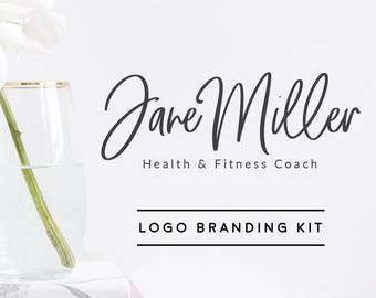 Health & Fitness Logo Branding Kit, Trainer Logo, Personal Coach Branding, Fitness Logo, Health Branding Kit, Blog Logo