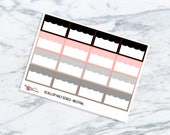 Neutral Scallop Half Boxes | Functional Planner Stickers | To Do | Lists | ECLP | HP | Rainbow