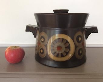 1970s Denby Arabesque Stoneware Casserole Dish