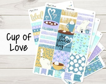 Cup of Love Weekly Kit | Planner Stickers