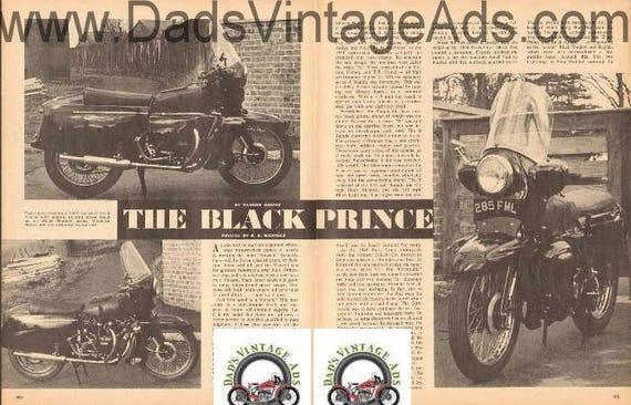 1965 The Black Prince 1955 Series D Vincent 3-Page Article #d65ba29