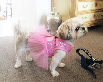 Pink Bling Harness with Skirt - Bark Avenue Bling