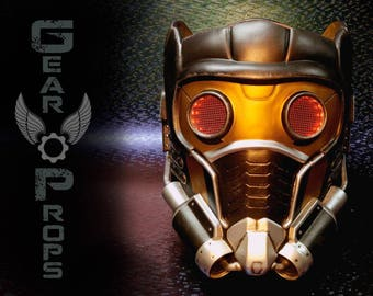 Star Lord Helmet. Guardians of the Galaxy. Finished piece / Raw Resin kit. Peter Quill. Chris Pratt. LED eyes.