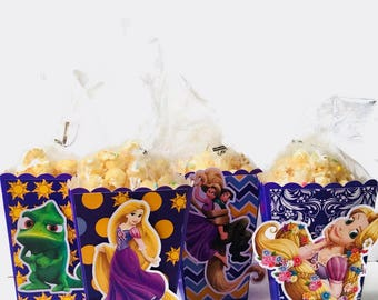 Rapunzel - Tangled | Popcorn Boxes, Treat Boxes, Favor Boxes, Goody Boxes, Snack Boxes, 12 Boxes