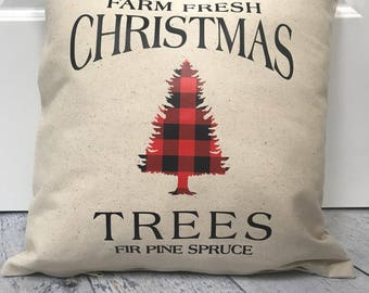 Christmas Tree Pillow Cover | christmas decor | winter decor | custom pillow case | christmas pillow