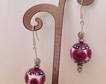 Ethnic style polymer clay earrings