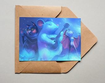 Postcard Dancing animals