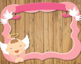 Angel girl themed party photo frame