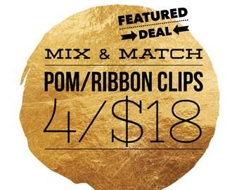 Planner Clip Pack - Choose 4 for 18 - Planner Clips - Ribbon/Tassel Clips