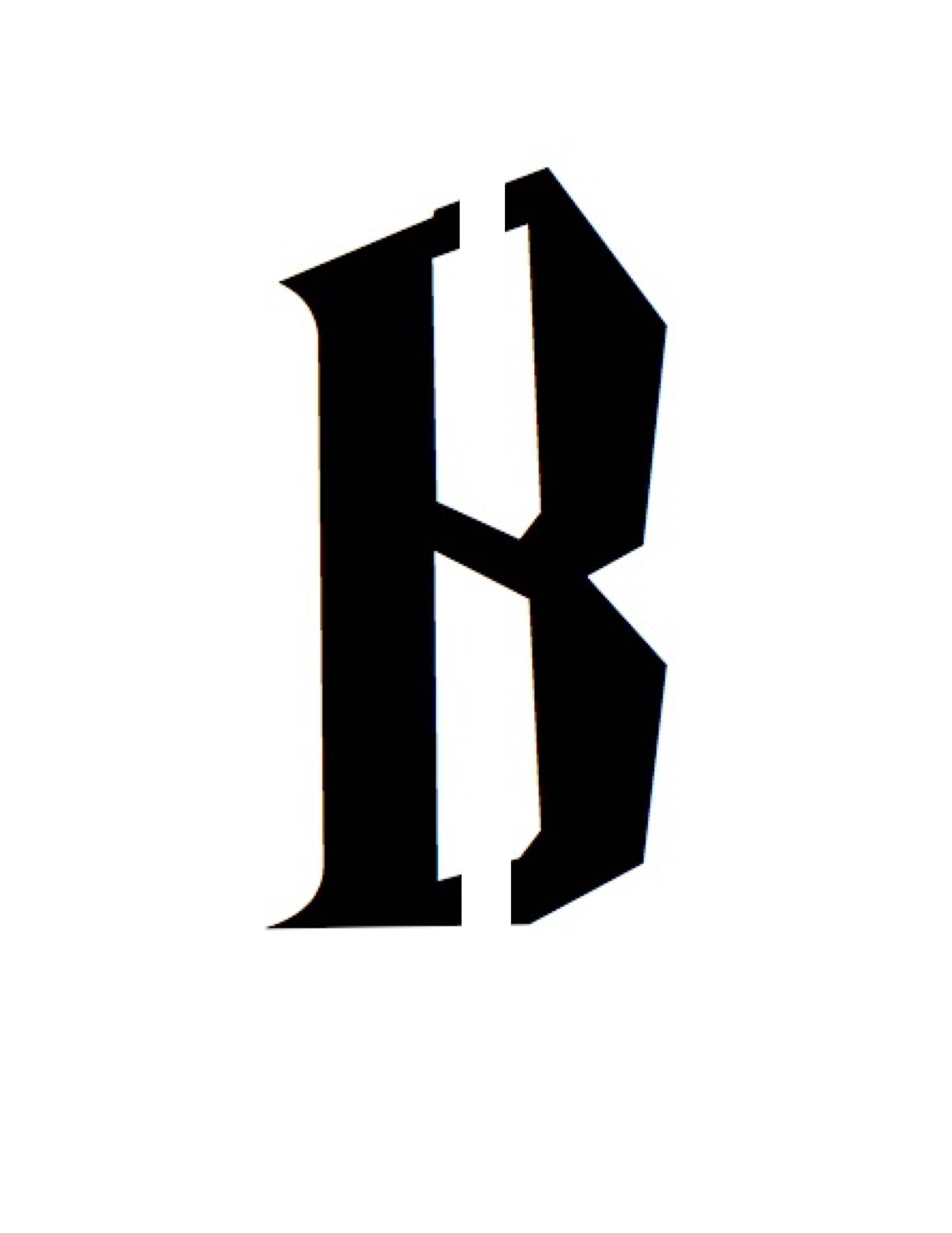 Letter B Stencil Made From 4 Ply Mat Board Wizard Font