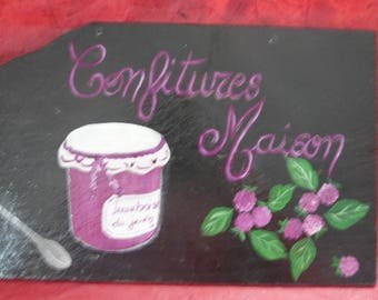 "deco slate ""my raspberry jam"""