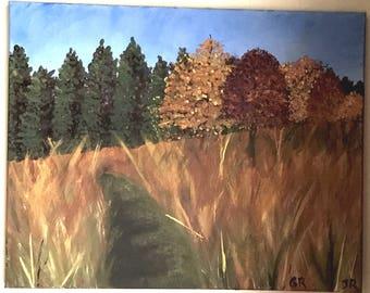 Retzler in Fall Painting