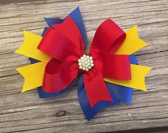 snow white bow - snow white hairbow - princess bow - princess hairbow - snow white birthday - princess hair bow - snow white headband