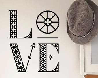 Romantic Wall Decal - Love - Wall decal - Valentines
