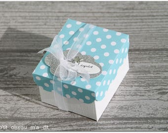 Box for sweets theme cloud (blue dots)