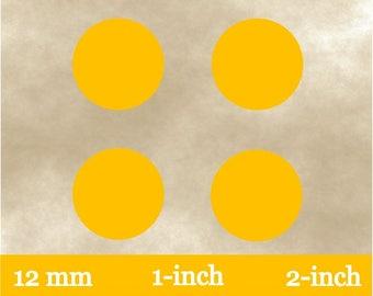 Instant Download~Orange Envelope Seals~Printable Orange Circles~Orange Bottle Cap Images~12 mm circles~1 inch circles~2 inch circles