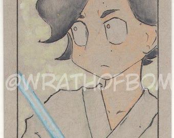 Star Wars: The Last Jedi Kylo Ren Ben Solo Fan Art Sketch Card