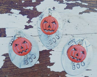 Vintage BOO Halloween Necklace